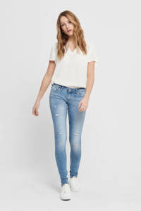 ONLY extra low waist skinny jeans ONLCORAL blue medium denim, Blue Medium Denim