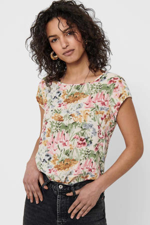 top ONLVIC met all over print ecru