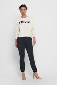 ONLY sweater ONLEDITH met logo ecru, Ecru