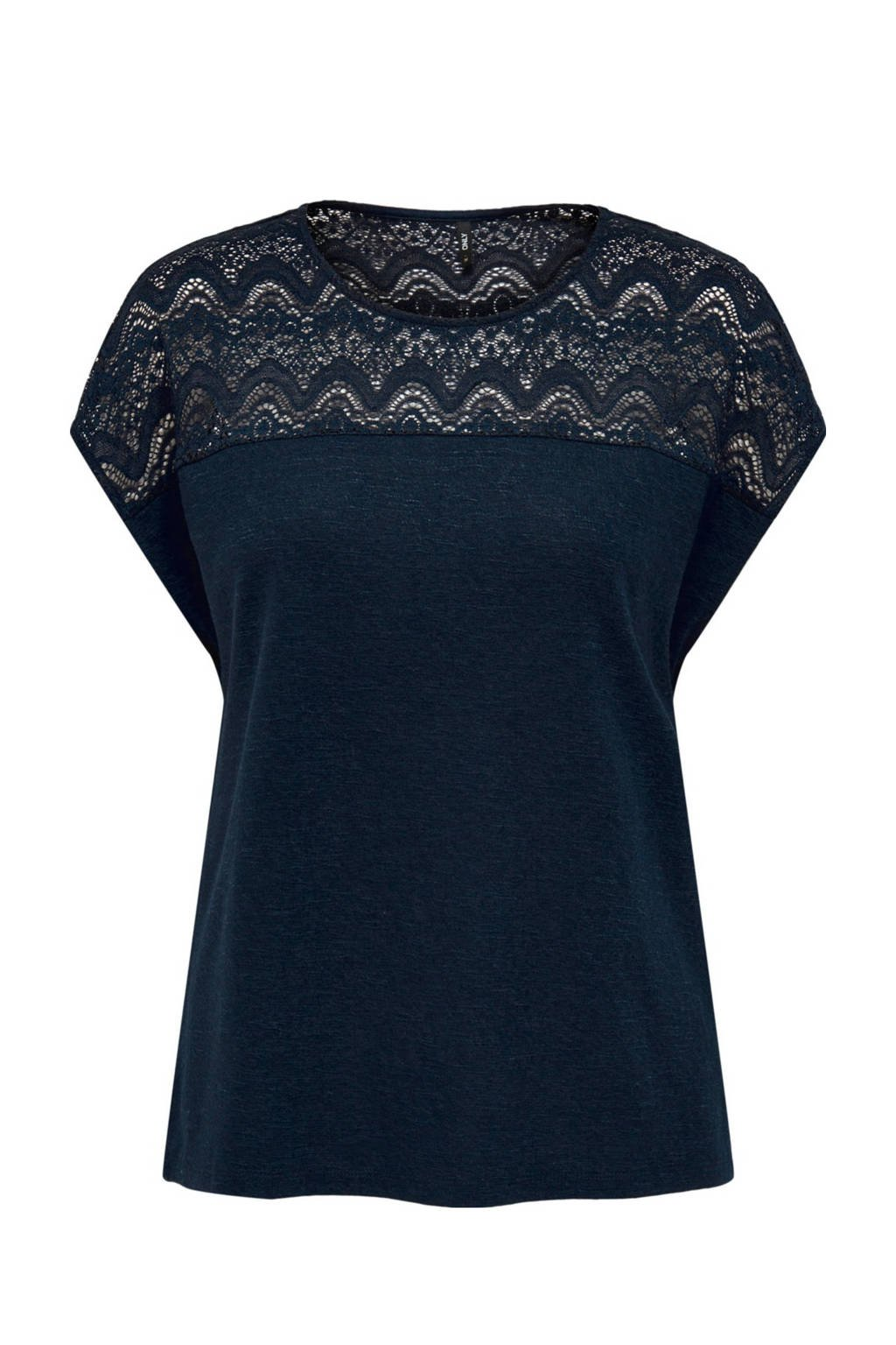 ONLY T-shirt ONLELVIRA donkerblauw, Donkerblauw