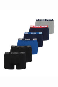 Puma boxershort (set van 6), Blauw/Zwart/Grijs