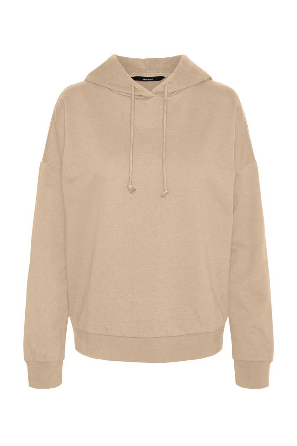 VERO MODA hoodie met biologisch katoen lichtbruin, Lichtbruin