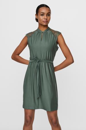jurk VMMILLA met kant groen