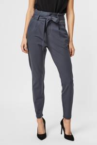 VERO MODA cropped high waist tapered fit broek VMEVA blauw, Blauw