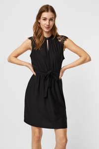 VERO MODA jurk VMMILLA met kant zwart, Zwart