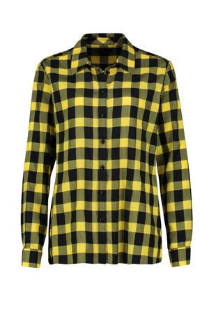 geruite blouse geel/zwart