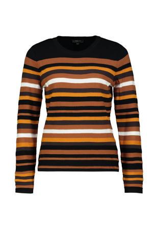 gestreepte trui zwart/oranje