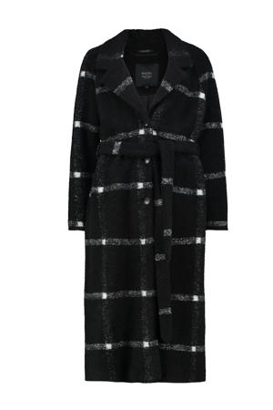 geruite  coat zwart