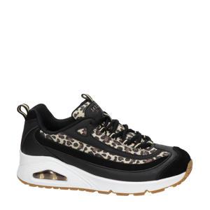 Uno Wild Streets  chunky sneakers met panterprint zwart