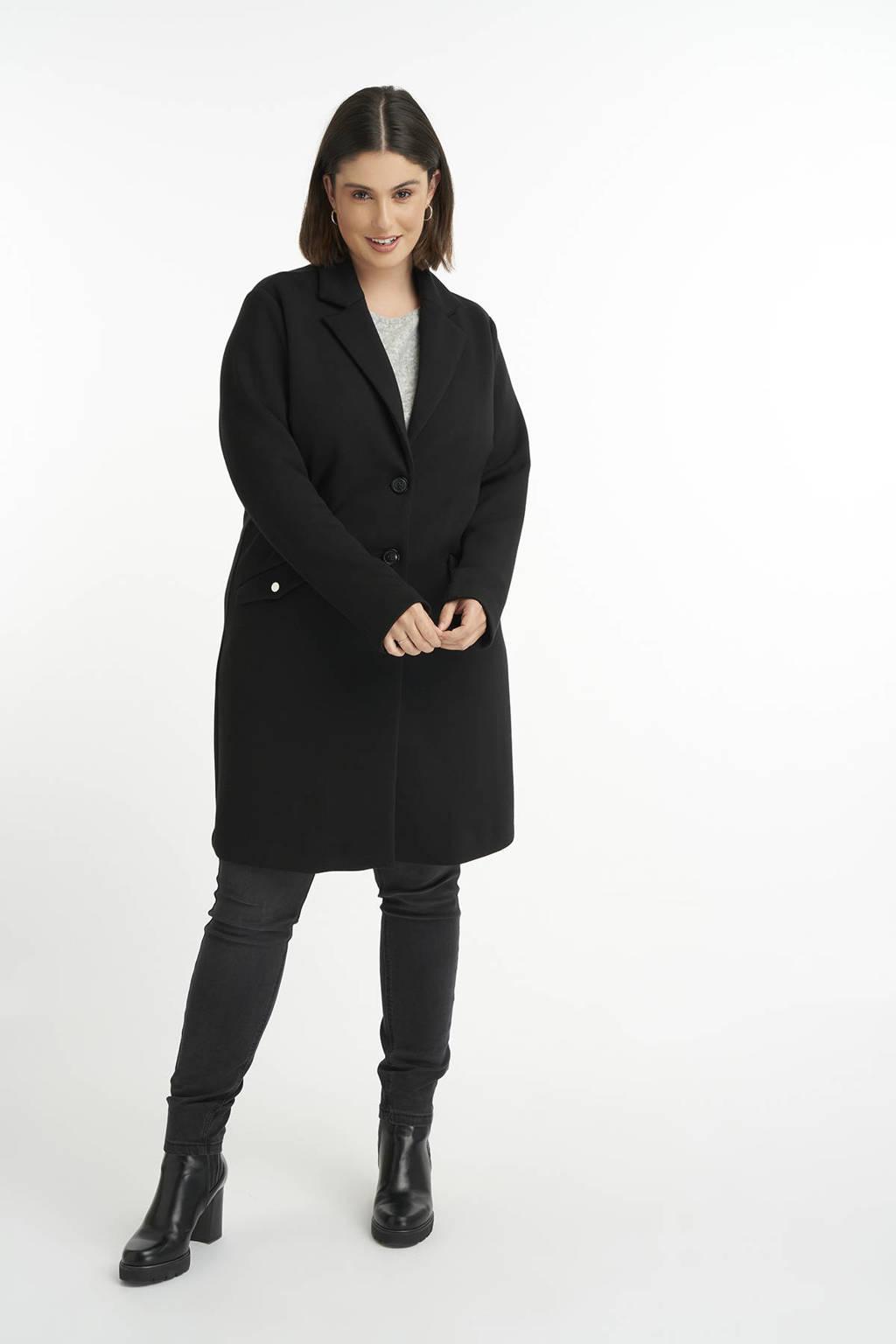 MS Mode  coat zwart, Zwart