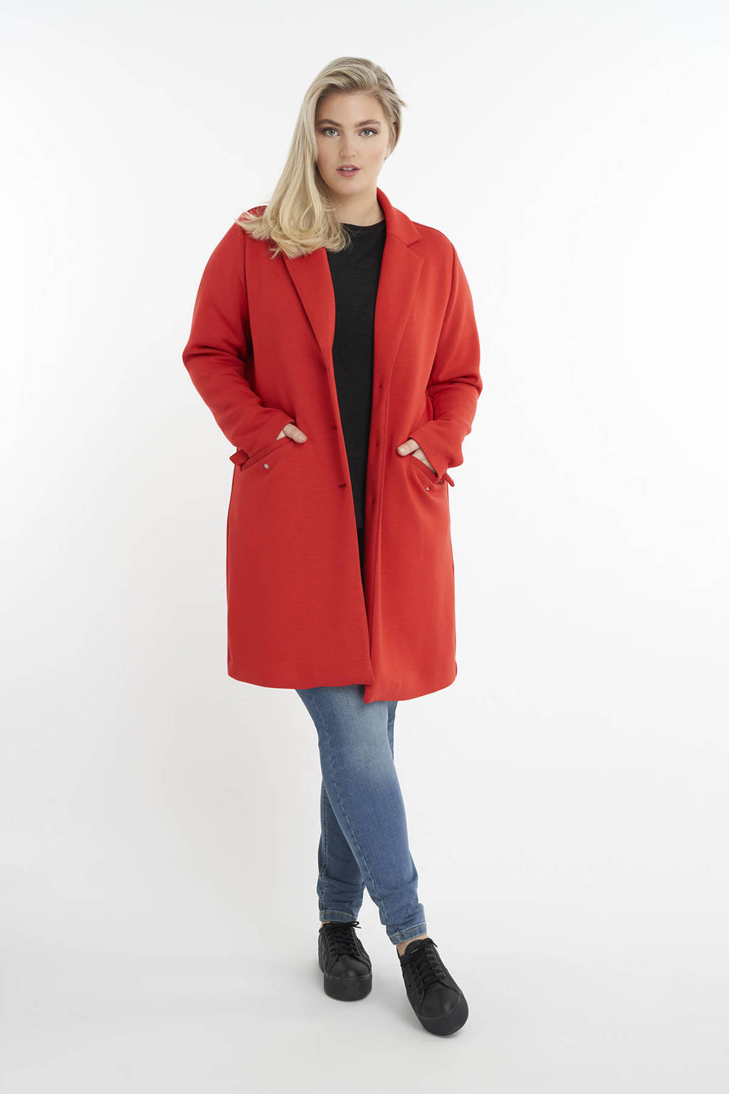MS Mode  coat rood, Rood