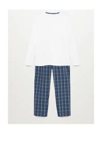 Mango Kids   pyjama blauw/wit, Donkerblauw/wit