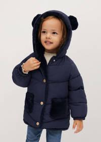 Mango Kids gewatteerde jas donkerblauw, Donkerblauw