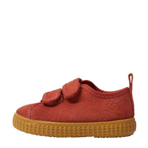 suède sneakers oranje
