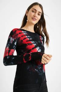 Desigual trui zwart/rood, Zwart/rood
