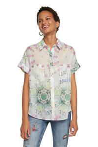 Desigual blouse met all over print wit/multi, Wit/multi