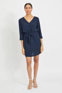 VILA jurk VILOVIE met ceintuur donkerblauw, Donkerblauw