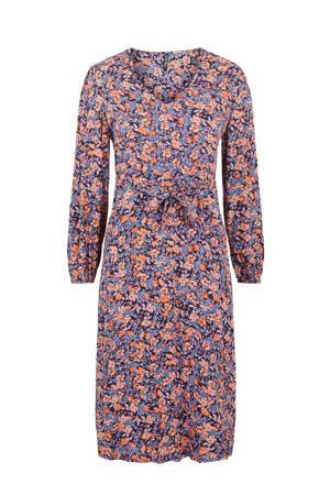 gebloemde jurk PCLUBBIE donkerblauw/oranje/lila