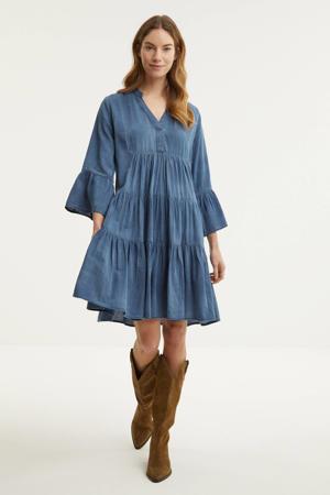 A-lijn jurk met plooien
