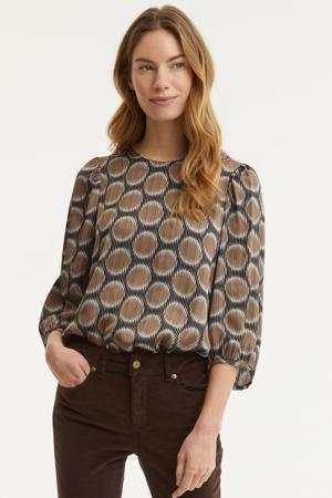 blouse met stippen groen