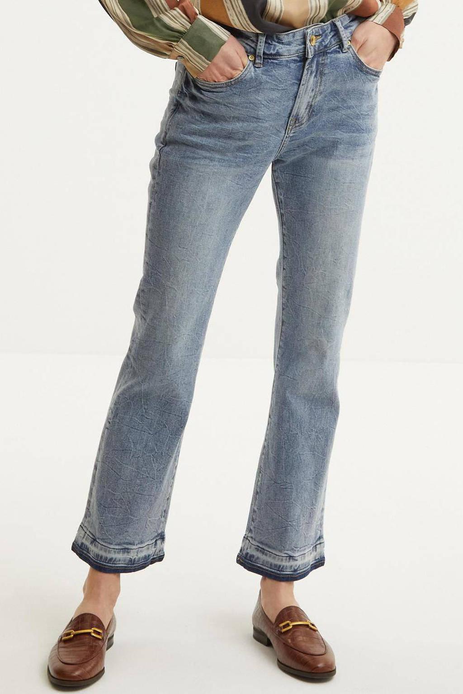 Summum Woman cropped high waist flared jeans light denim, Light denim