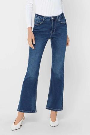 high waist flared jeans JDYNWFLORA donkerblauw