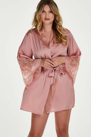 satijnlook kimono roze