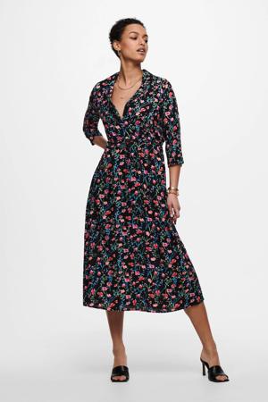 jurk JDYSTAAR met all over print zwart