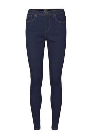 mid waist skinny jeans VMTANYA dark blue denimwash