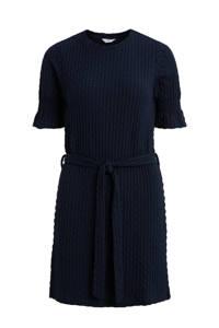 OBJECT jurk OBJWARINA met ceintuur donkerblauw, Donkerblauw