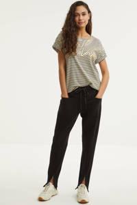 Summum Woman gestreept T-shirt zwart/wit, Zwart/wit