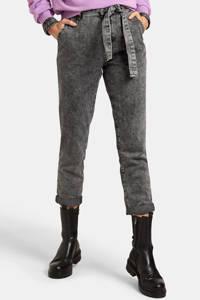 Eksept by Shoeby high waist slim fit jeans Snowy L28 donkergrijs, Donkergrijs