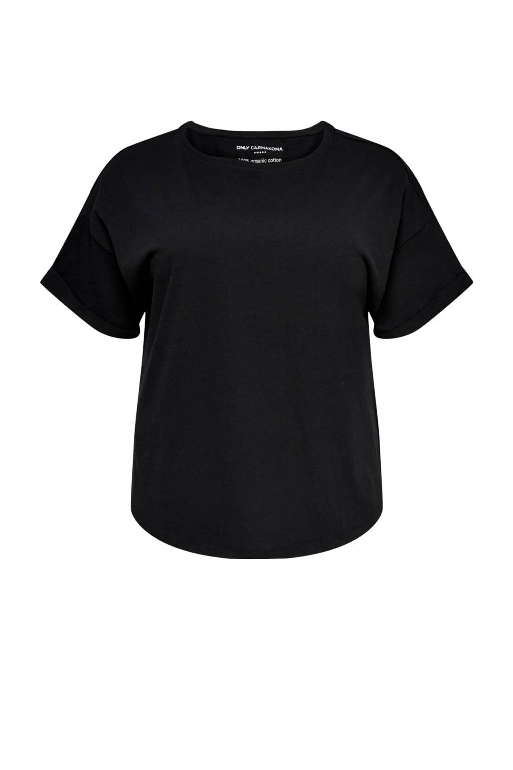 ONLY CARMAKOMA T-shirt CARKAYLEE zwart, Zwart