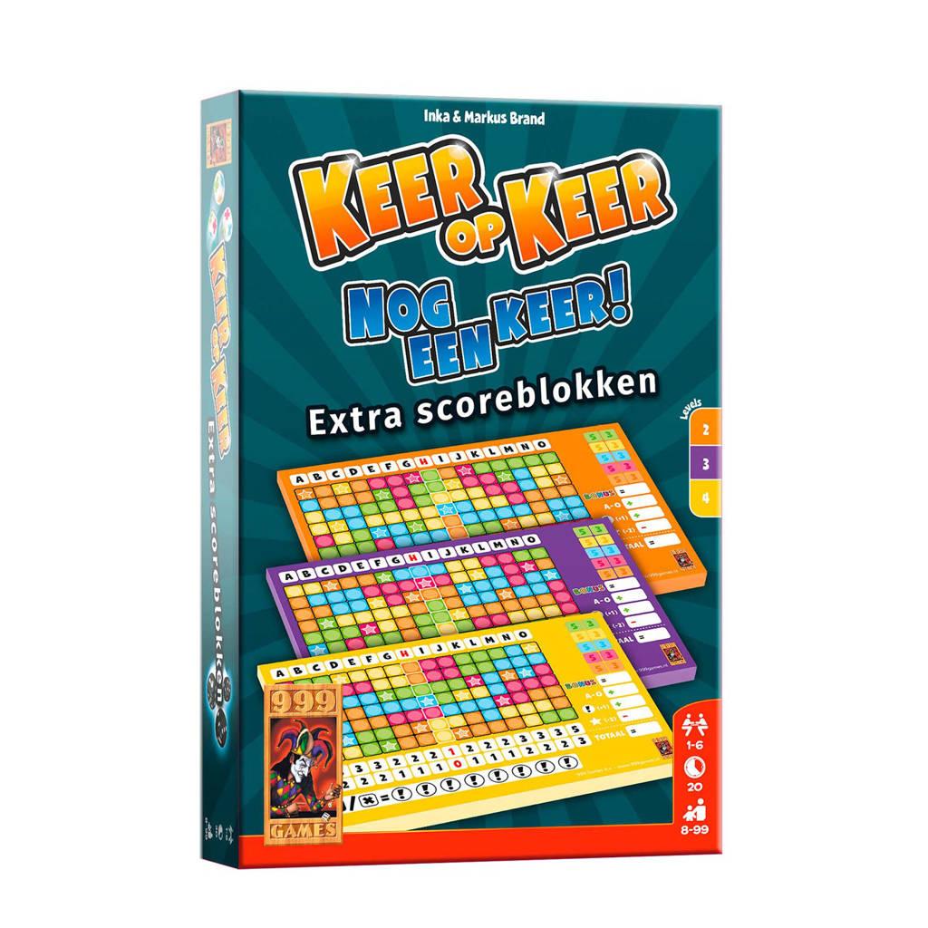 999 Games Keer op Keer Scoreblok 3 stuks Level 2, 3 en 4 uitbreidingsspel