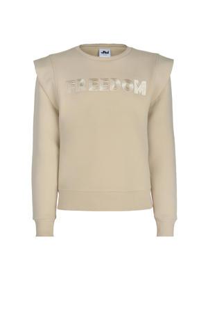 sweater Katia met tekst ecru
