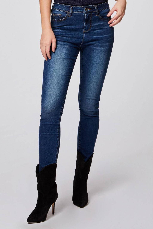 Morgan high waist skinny jeans dark blue, Dark Blue