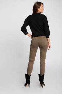 Morgan low waist skinny broek kaki, Kaki