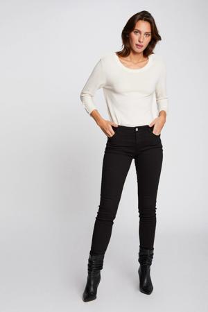 low waist skinny broek zwart
