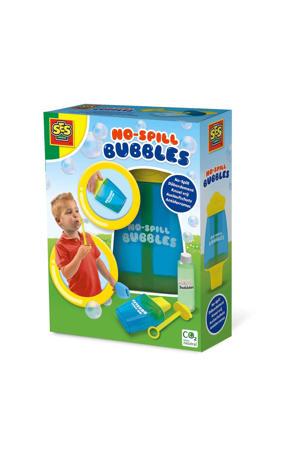 Knoeivrije bellenblaas pot met Mega bubbles