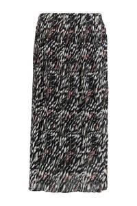 Zabaione rok Ria met all over print zwart, Zwart