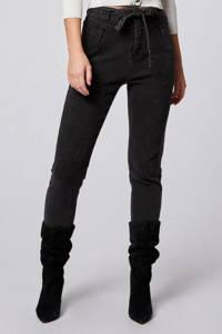 Morgan high waist slim fit jeans antraciet, Antraciet