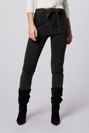 high waist slim fit jeans antraciet
