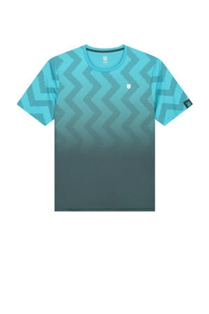 sport T-shirt blauw/grijs