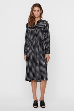 jurk VMFIE met stippen zwart/wit
