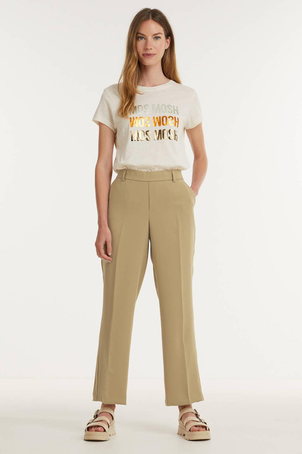 Mos Mosh T-shirt Mavis  met biologisch katoen ecru, Ecru