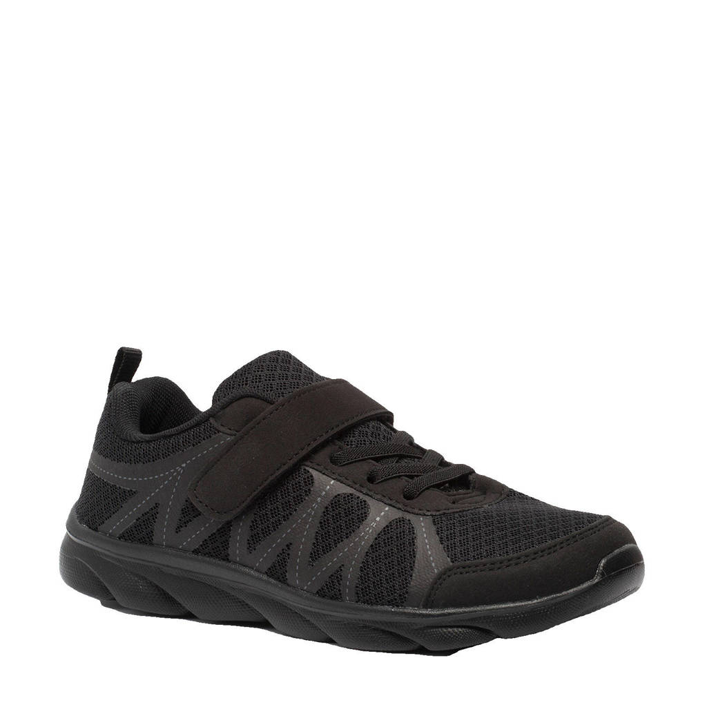Scapino Osaga   hardloopschoenen zwart jongens, Zwart/Zwart