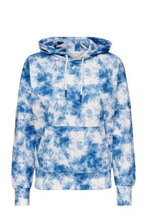 sporthoodie Jaida wit/blauw