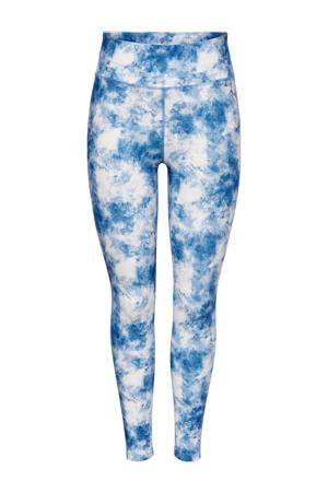 sportlegging Jaida wit/blauw