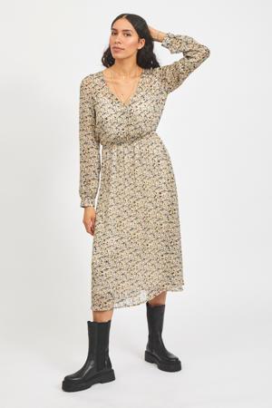 jurk VINAIRA met all over print ecru