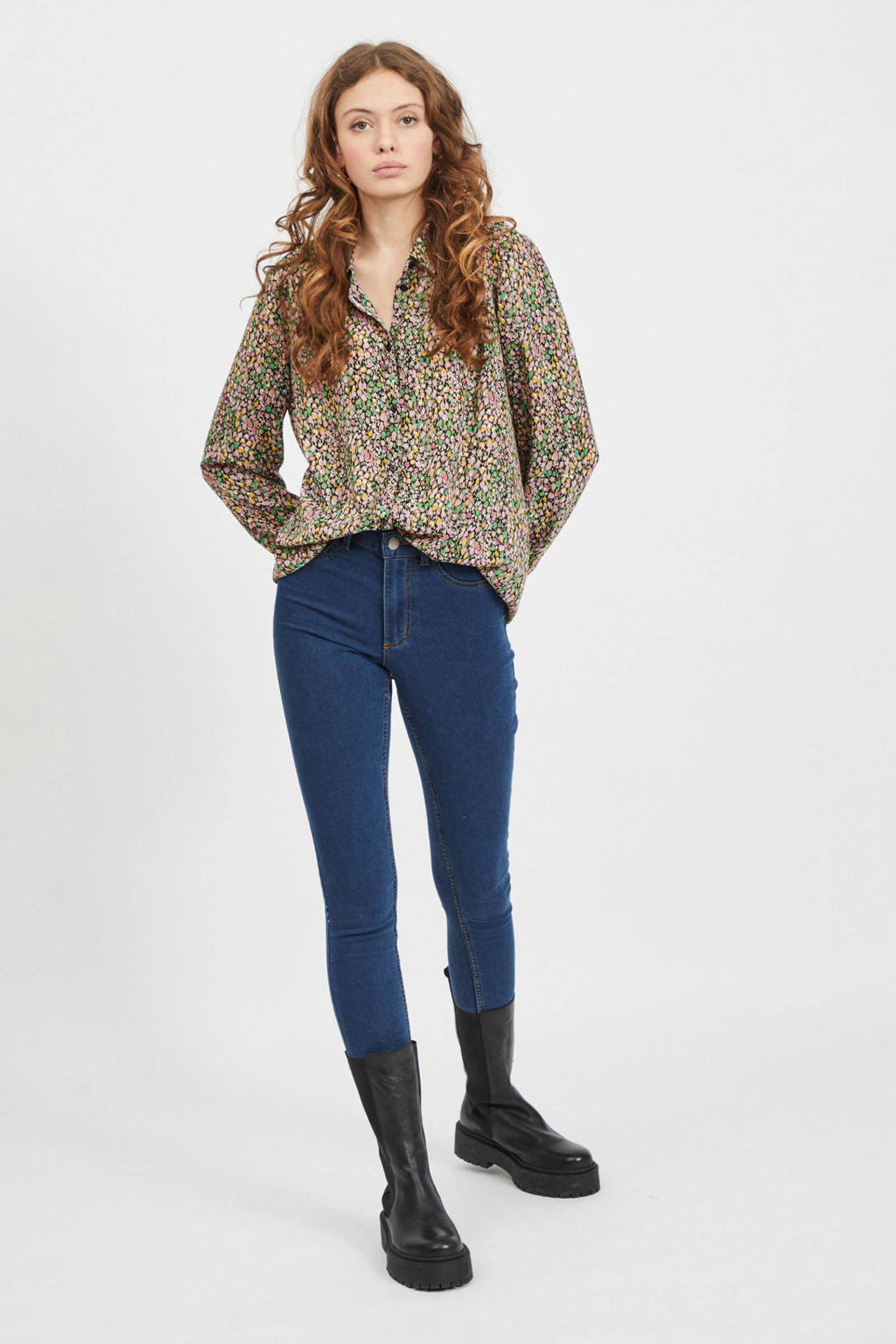VILA blouse VILUCY met all over print multicolor, Multicolor